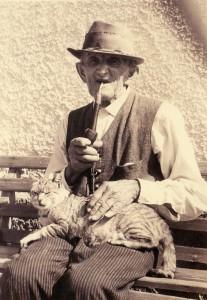 _ da Geiger Vater David Strimitzer mit seina Mudl (24.12.1961)